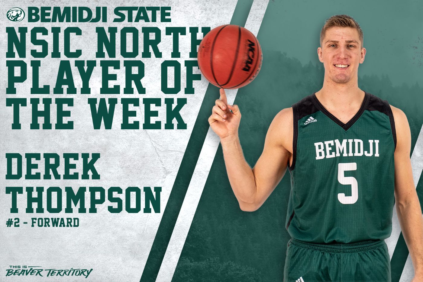 Thompson's career weekend helps earn final NSIC North Player of the Week honor