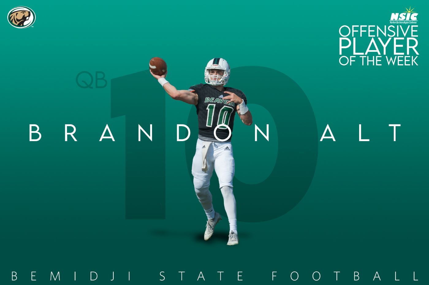 Alt named NSIC Offensive Player of the Week after 449 yards, 5 touchdowns