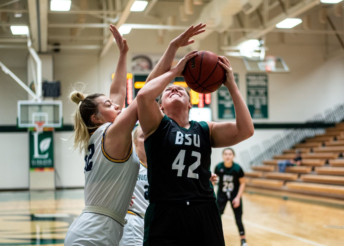 Bray records first career double-double in Beavers loss to Mustangs