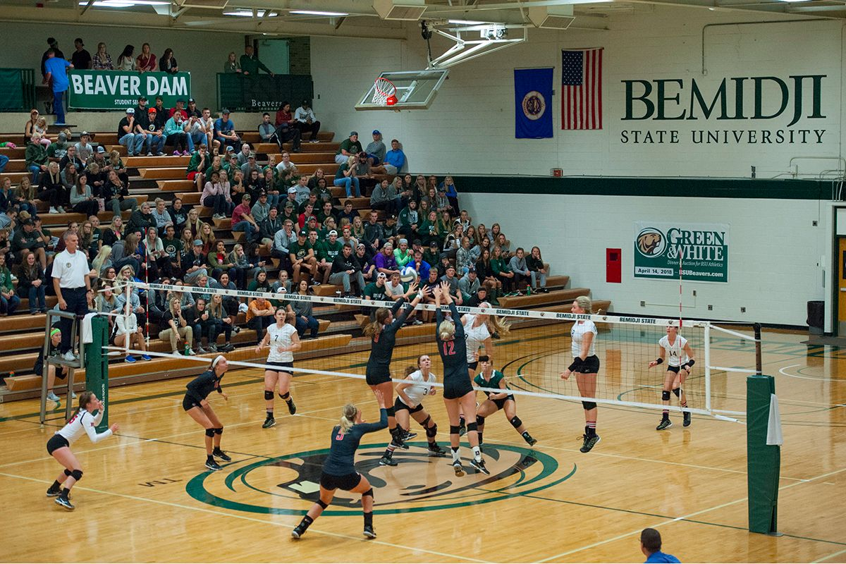 Beavers rally from two sets down to defeat Huskies 3-2