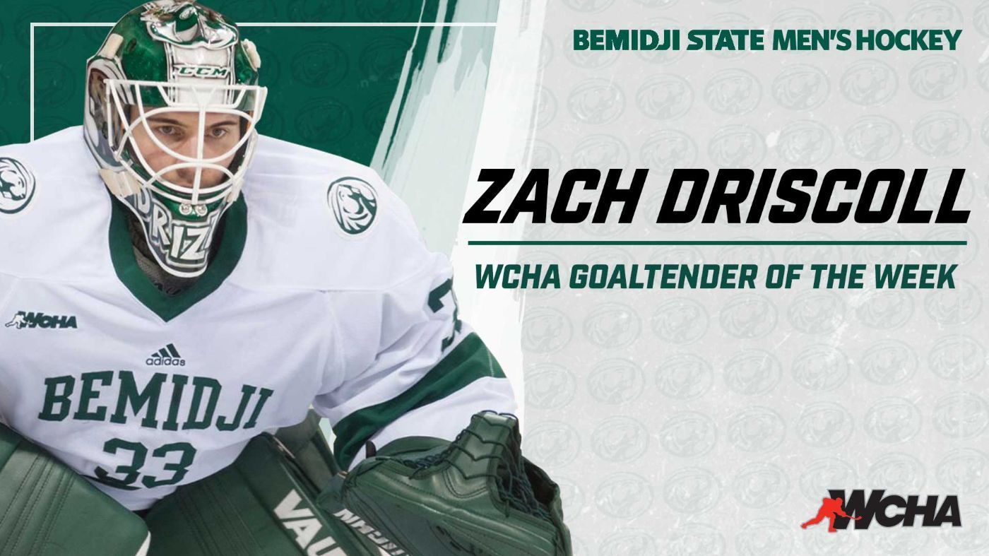 Driscoll selected as WCHA Goaltender of the Week