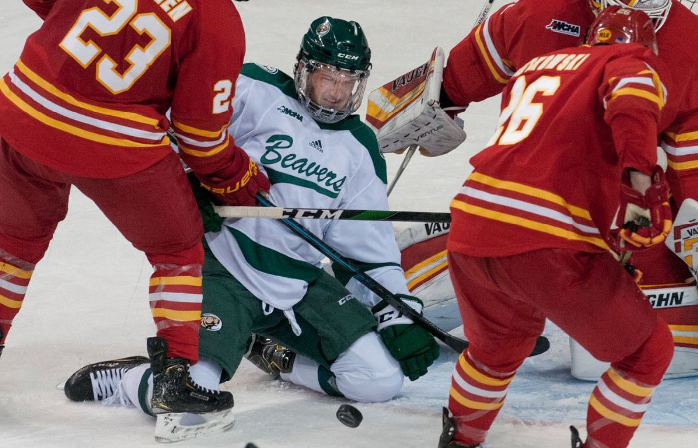 Bemidji State battles back to tie Ferris State 3-3, Drops shootout