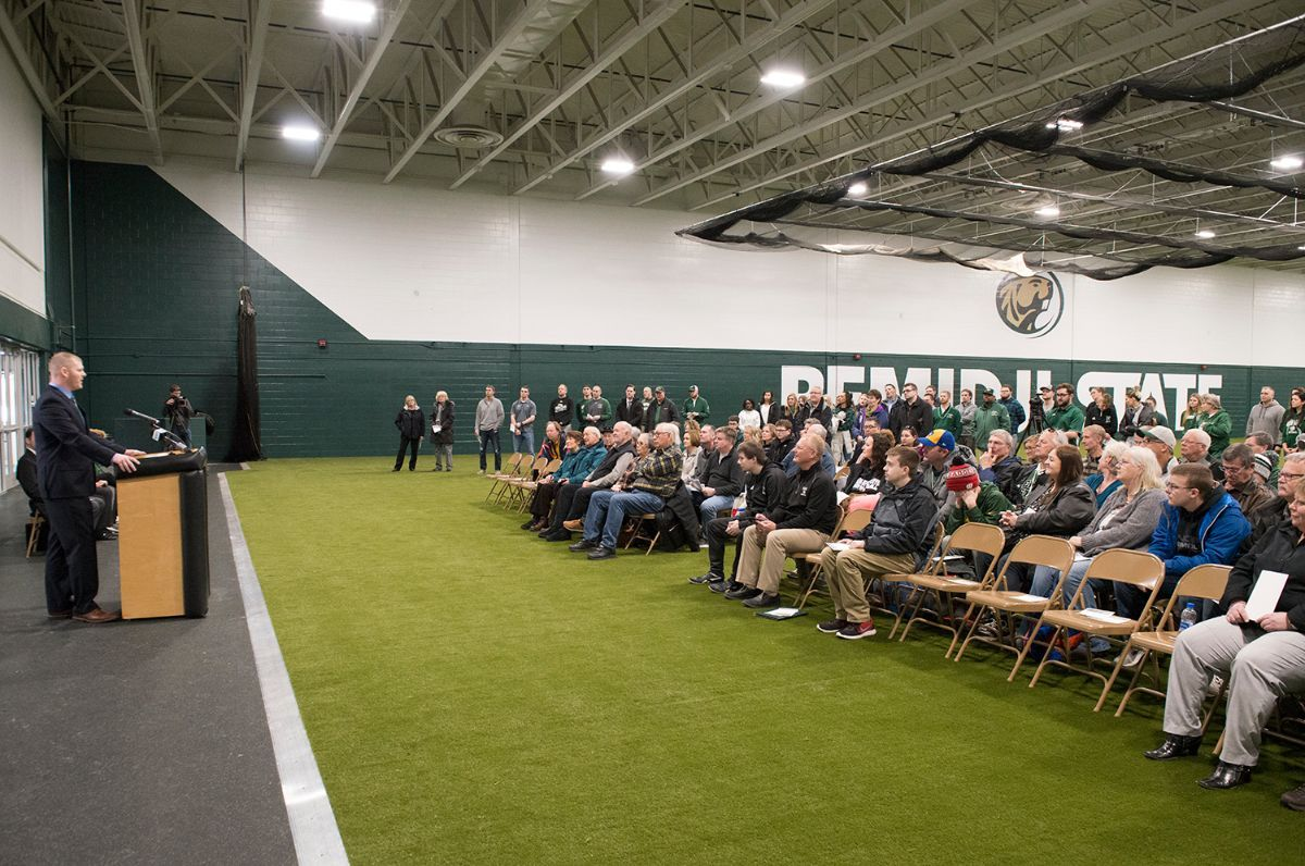 Renovated training center gives Bemidji State year-round practice facility