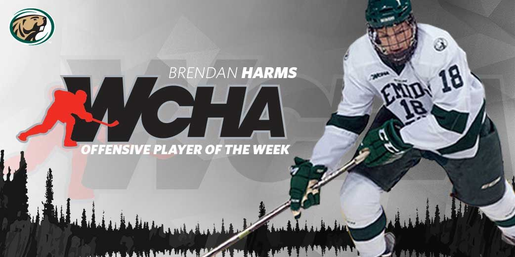 Harms named WCHA Offensive Player of the Week