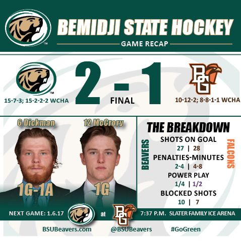 Bemidji State youth sparks offense in 2-1 win at Bowling Green