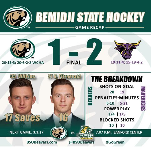 Mavericks capitalize on second-period penalties to earn a 2-1 victory