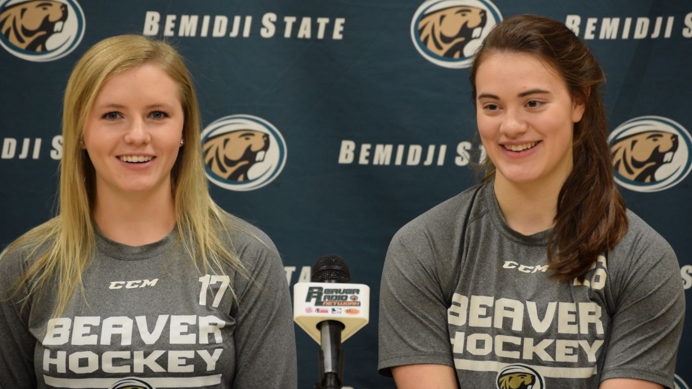 Beavers talk to media prior to WCHA series at St. Cloud State