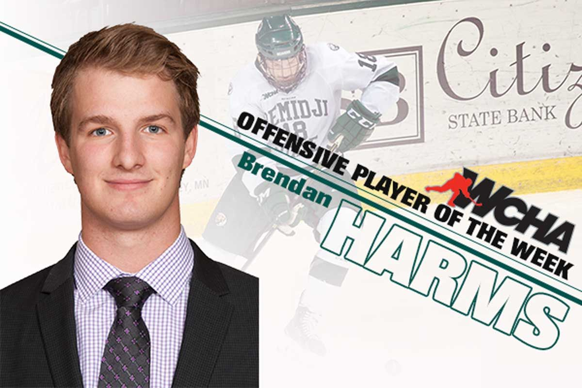 Bemidji State's Harms selected as WCHA Offensive Player of the Week