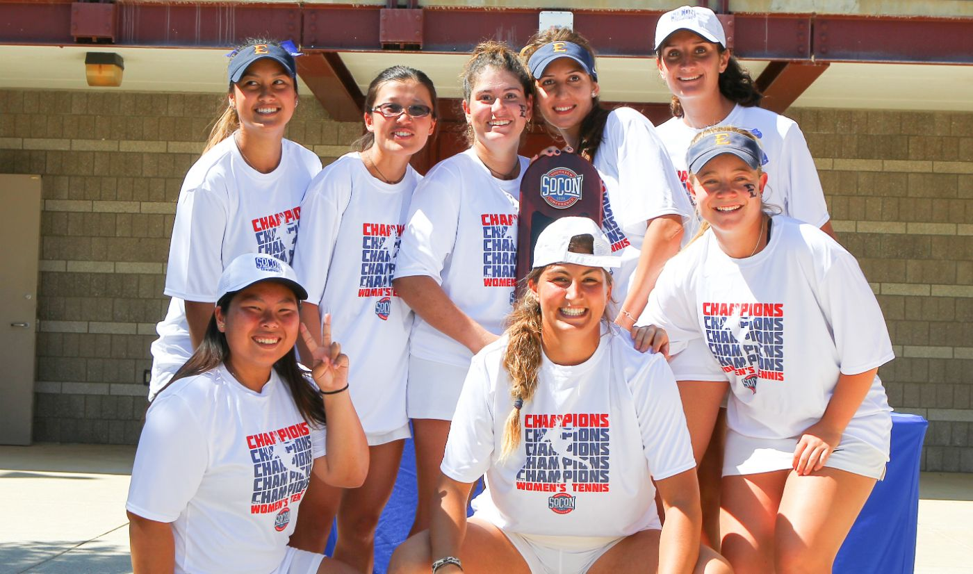 Women's Tennis shuts out Samford to claim first ever SoCon Championship