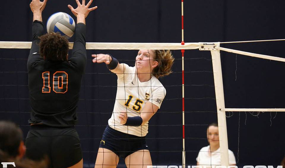 Volleyball remains unbeaten at home with a sweep over Mercer