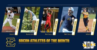 Five Bucs Earn SoCon Athlete of the Month Honors