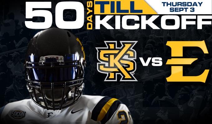 ETSU reaches 50 days until kickoff