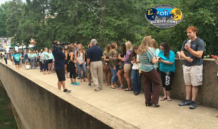 Student football ticket allotment distributed in hours