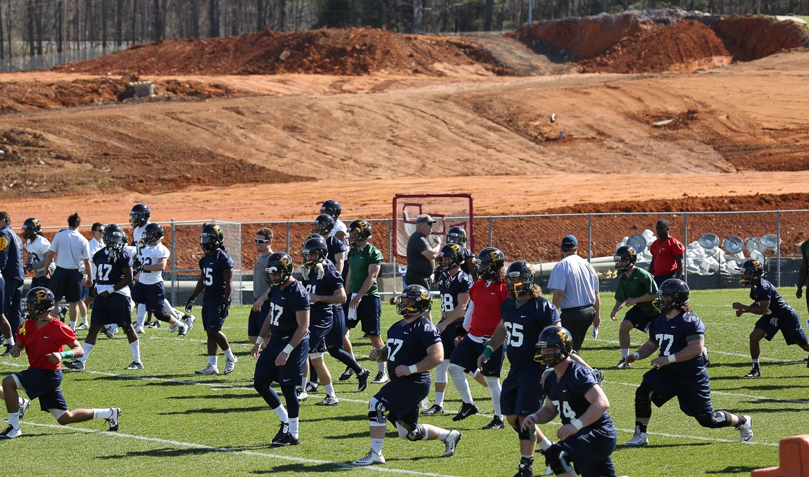 Football wraps up day one of spring practice
