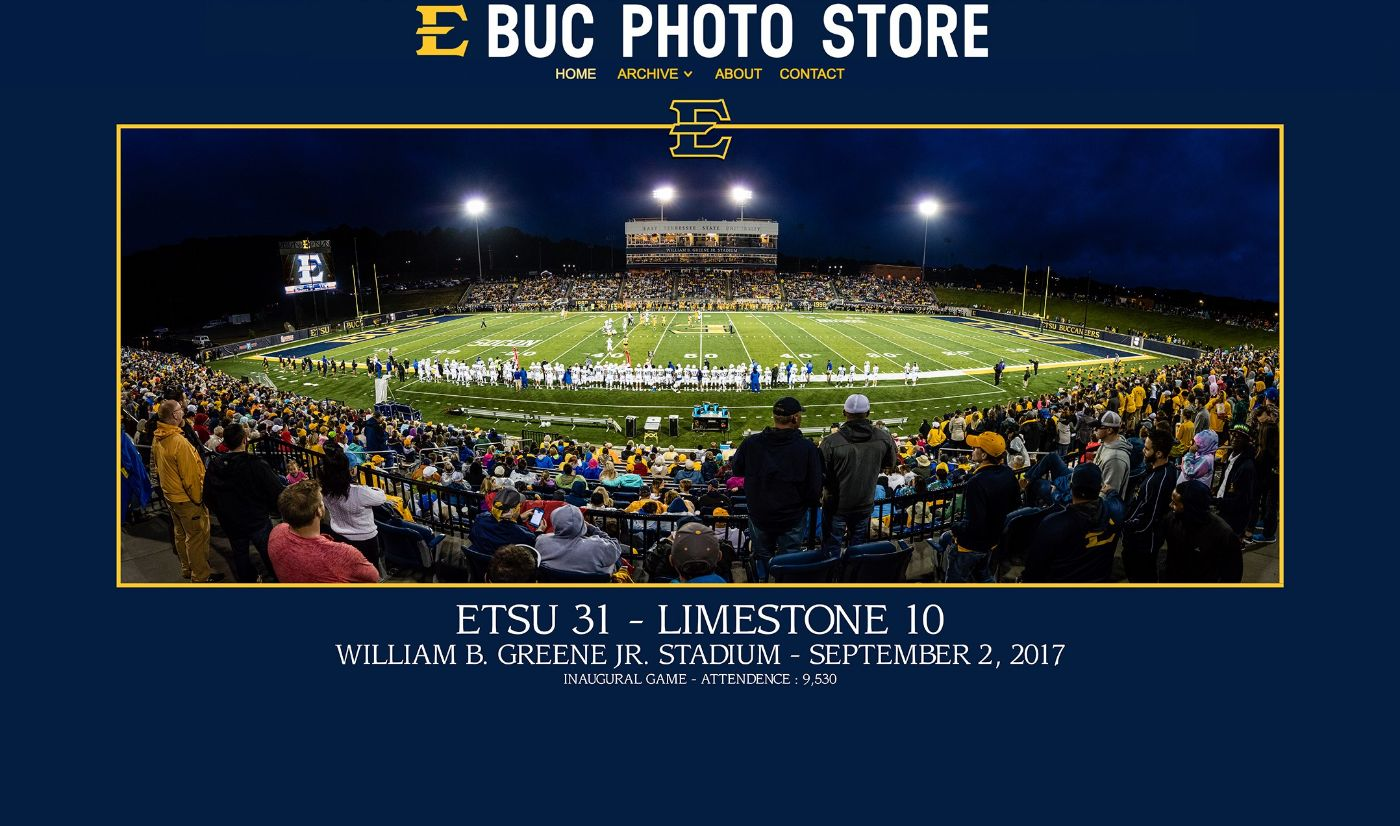 "ETSU athletics launches new ""Buc Photo Store"""