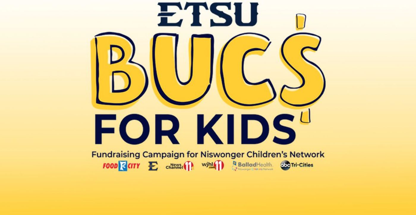 ETSU Athletics partners with Food City and WJHL to hold 'BUCS for Kids' in Support of Niswonger Children's Hospital