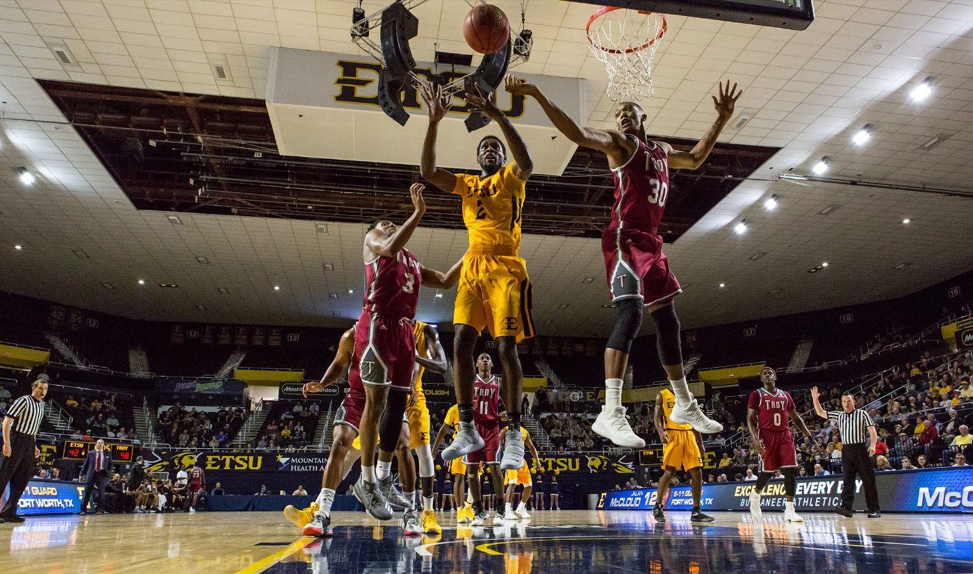Late scoring burst gives Troy win over ETSU, 73-65