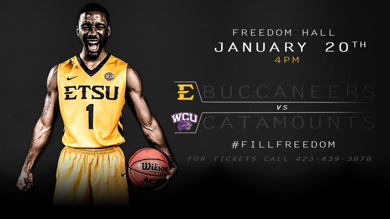First-place Bucs welcome Catamounts to Freedom Hall Saturday