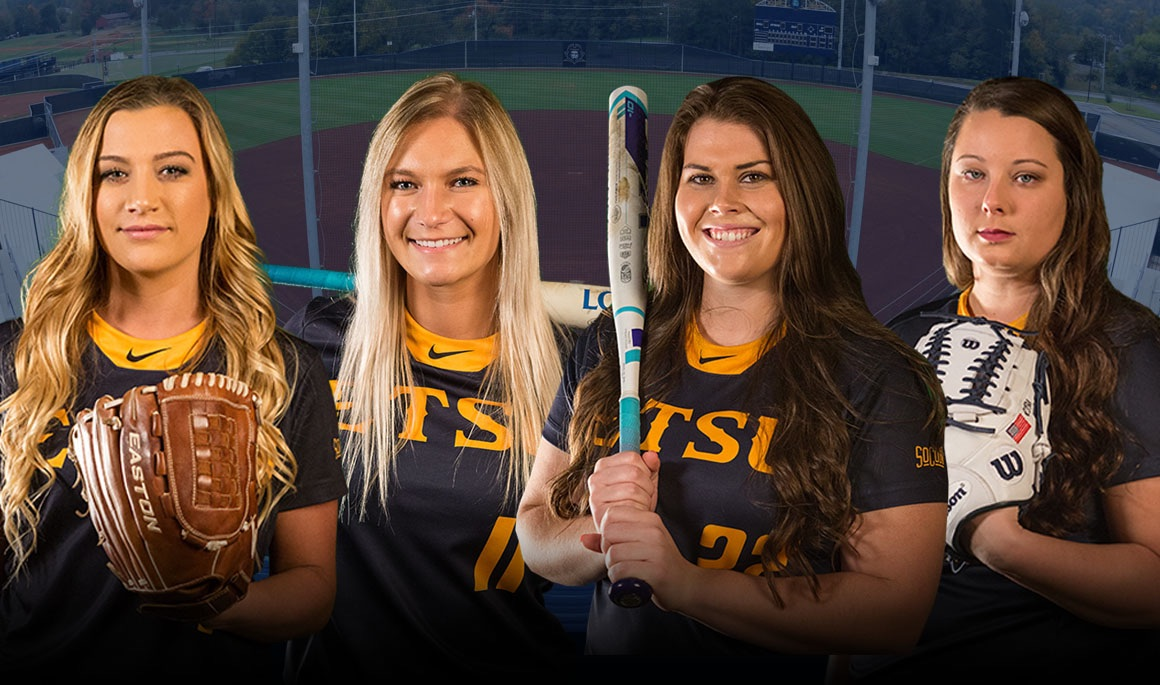 Softball places four on preseason all-conference teams