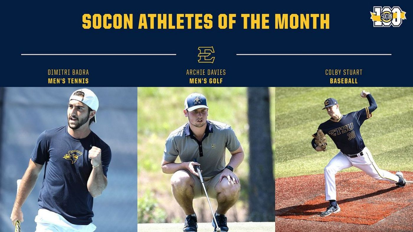 Trio of Buccaneers Earn SoCon Athlete of the Month Honors