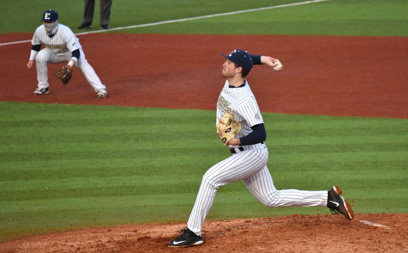 Seven Buccaneer pitchers shut down UNCA, 9-1
