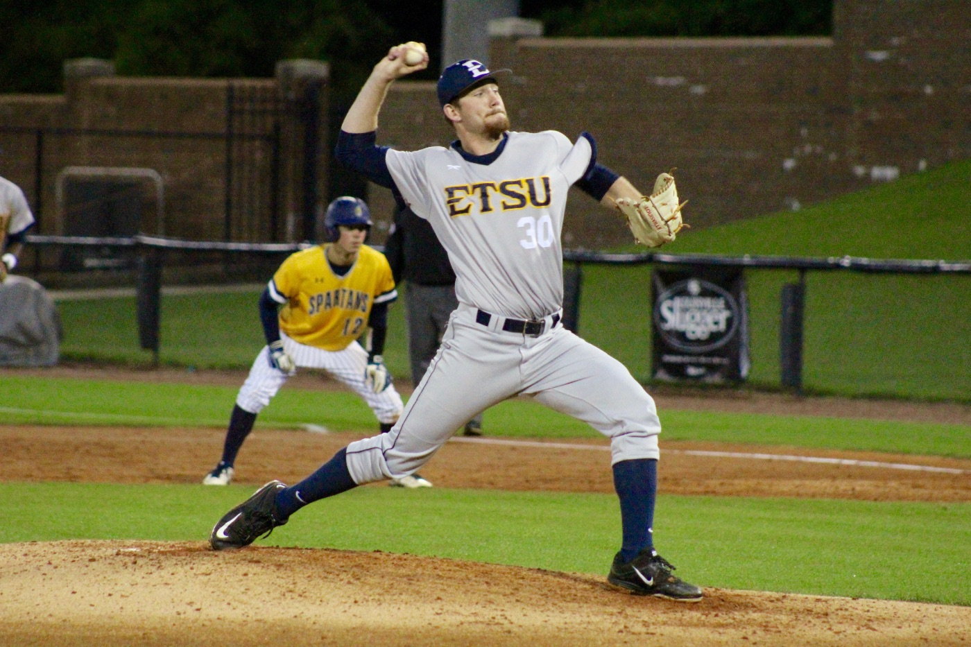 Bucs battle but fall to UNCG in series opener, 6-5