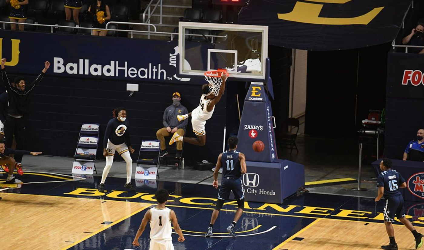 ETSU hits century mark in rout over The Citadel, 112-84