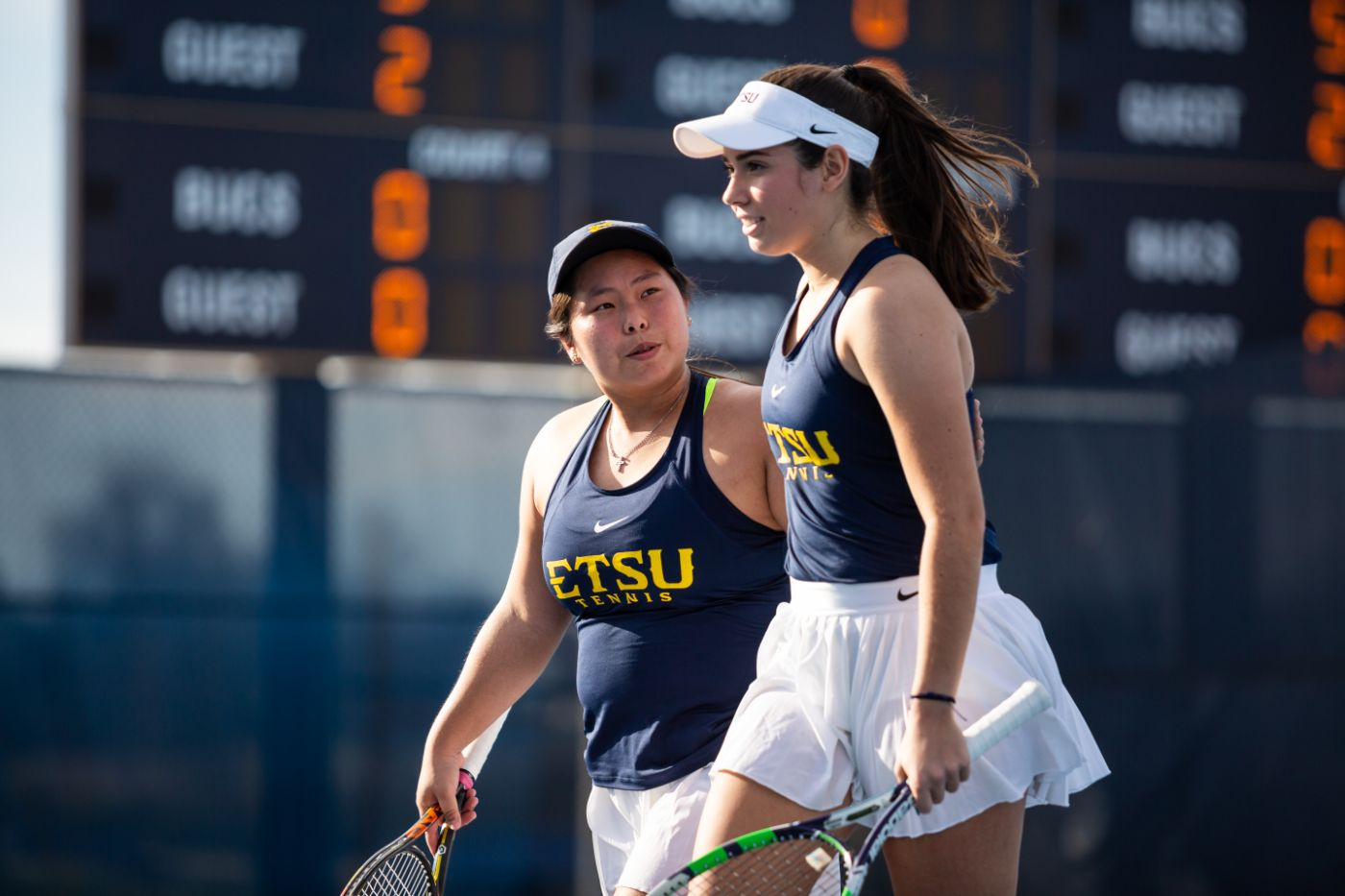 Bucs win doubles point, but fall to VCU, 4-3