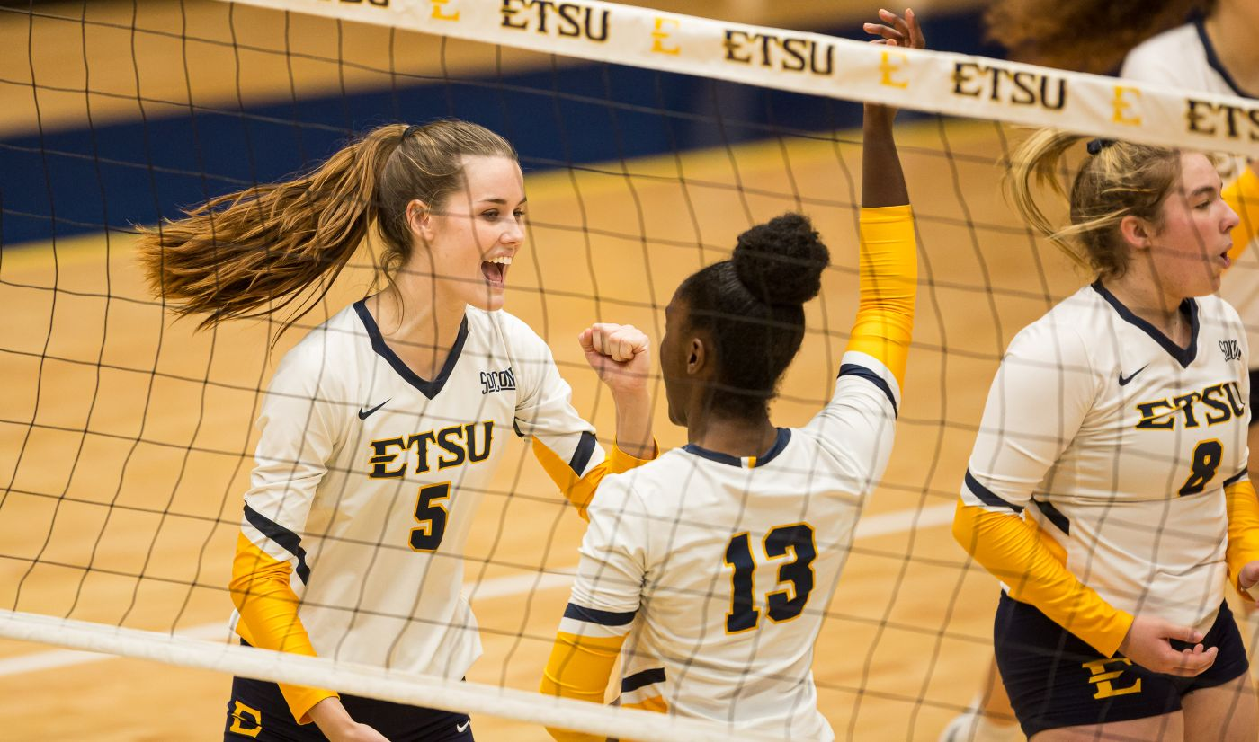 Bucs Outlast Terriers in Five Set Thriller