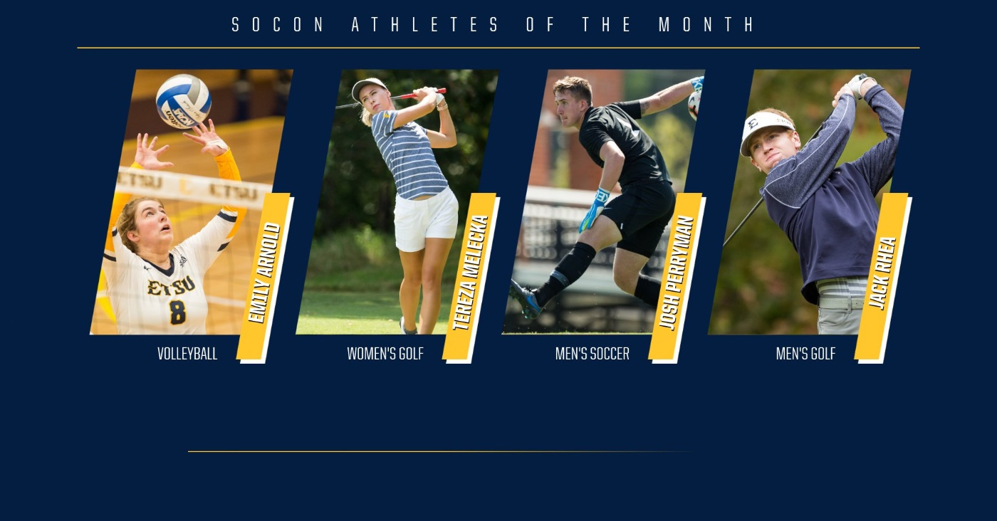 Four Bucs earn SoCon Athlete of the Month honors