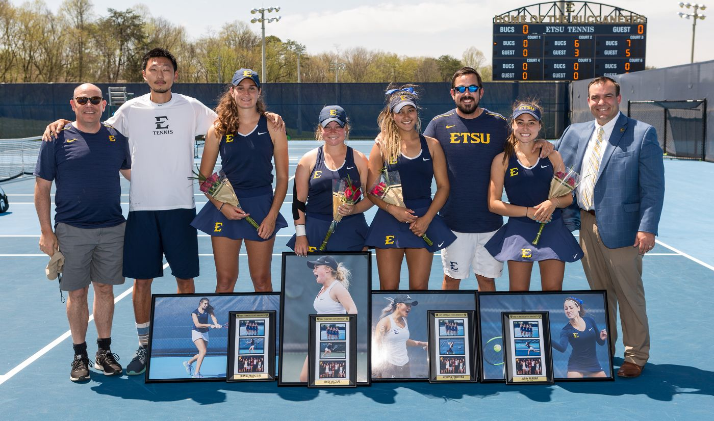 Women's tennis tops Appalachian State 5-2 on senior day