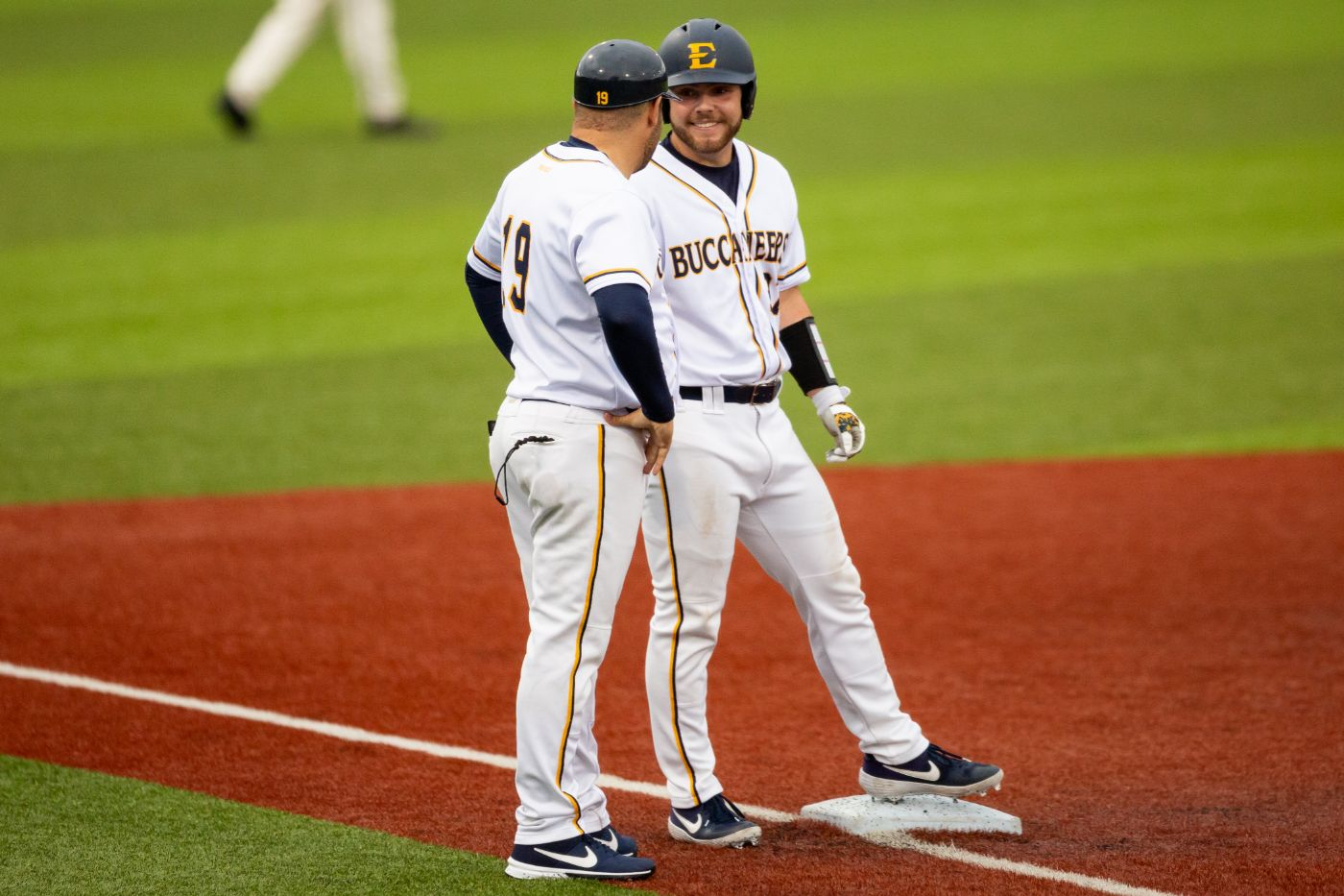 Bucs overcome five run deficit to down Catamounts