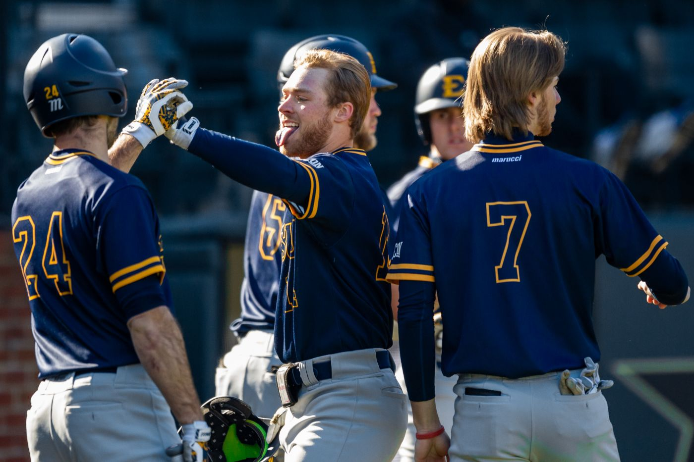 Bucs come from behind to eliminate No. 5 Furman, 7-5