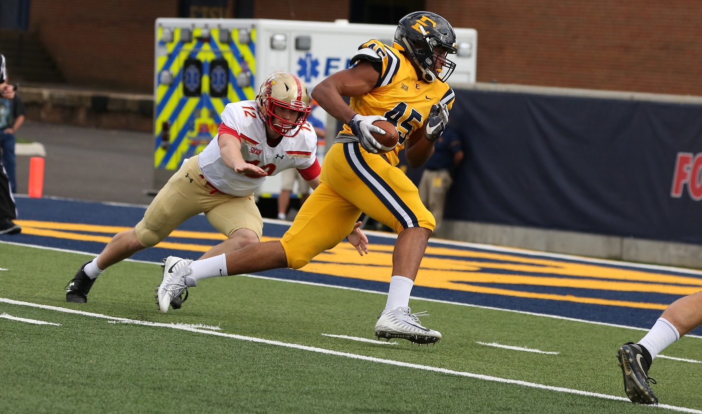Defense, second-half surge lift Bucs past VMI, 24-6