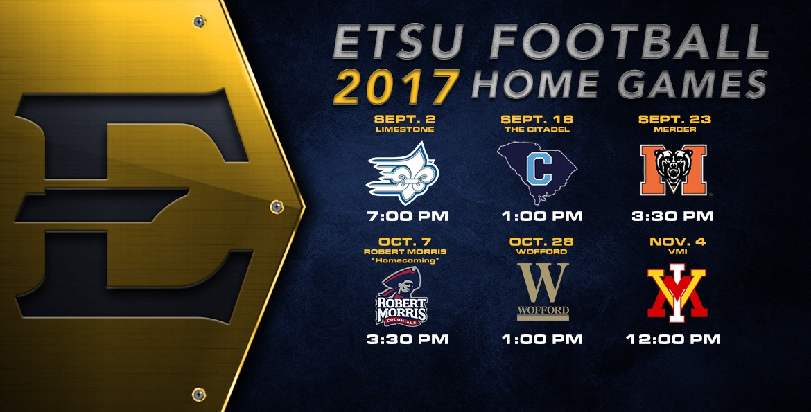 ETSU football announces kickoff times for home games