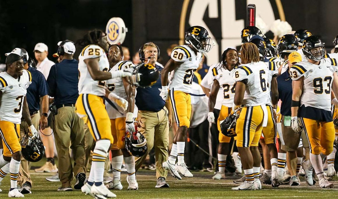 Bucs remain perfect with overtime shootout win at Samford, 55-48