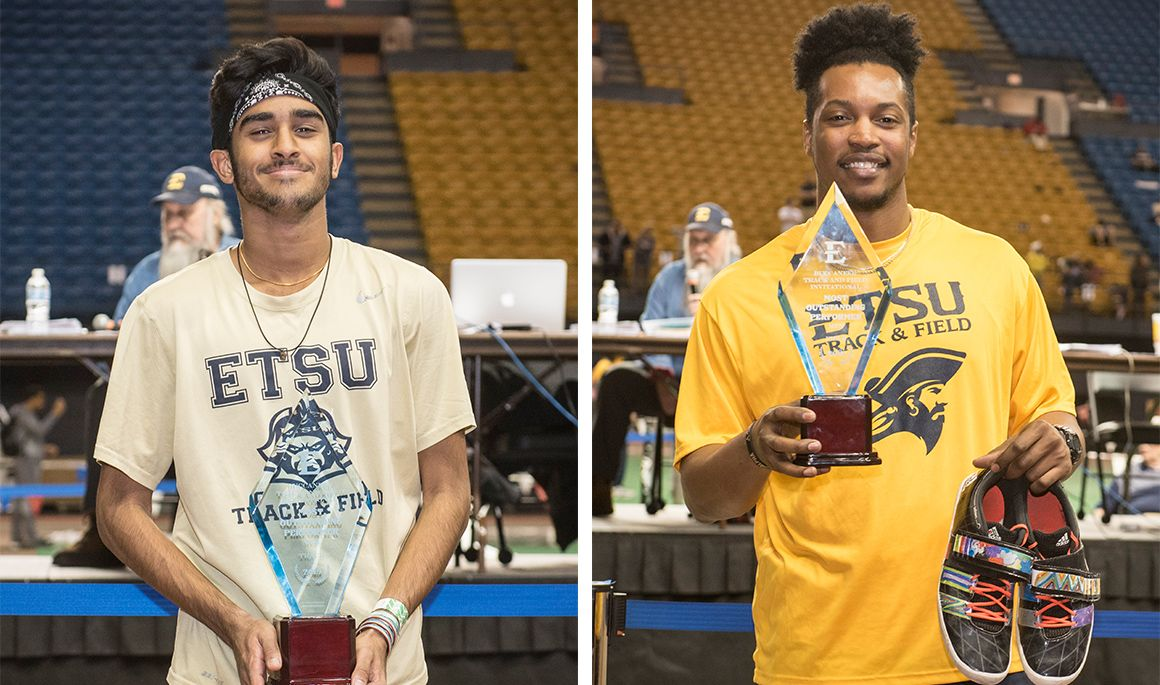 Ben Varghese (left) and Ben Johnson both win Athlete of the Meet awards.