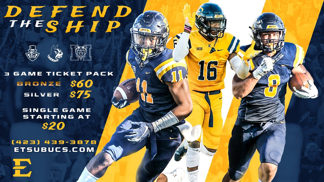 ETSU Football Single Game Football Tickets on Sale Now