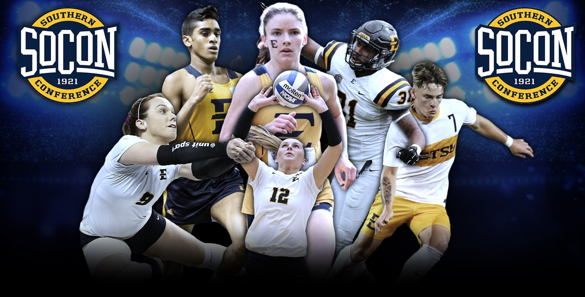 Six Buccaneers earn SoCon Athlete of the Month honors