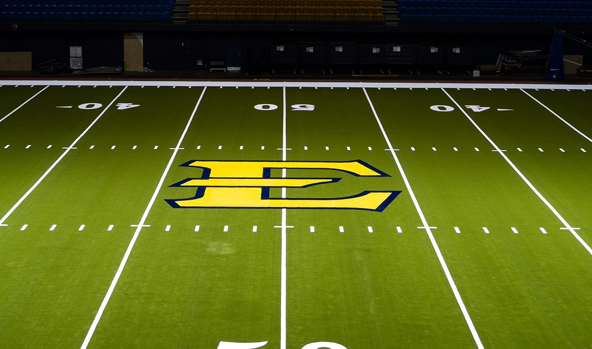 Embracing Excellence: Turf installation completed inside ETSU Athletics Center