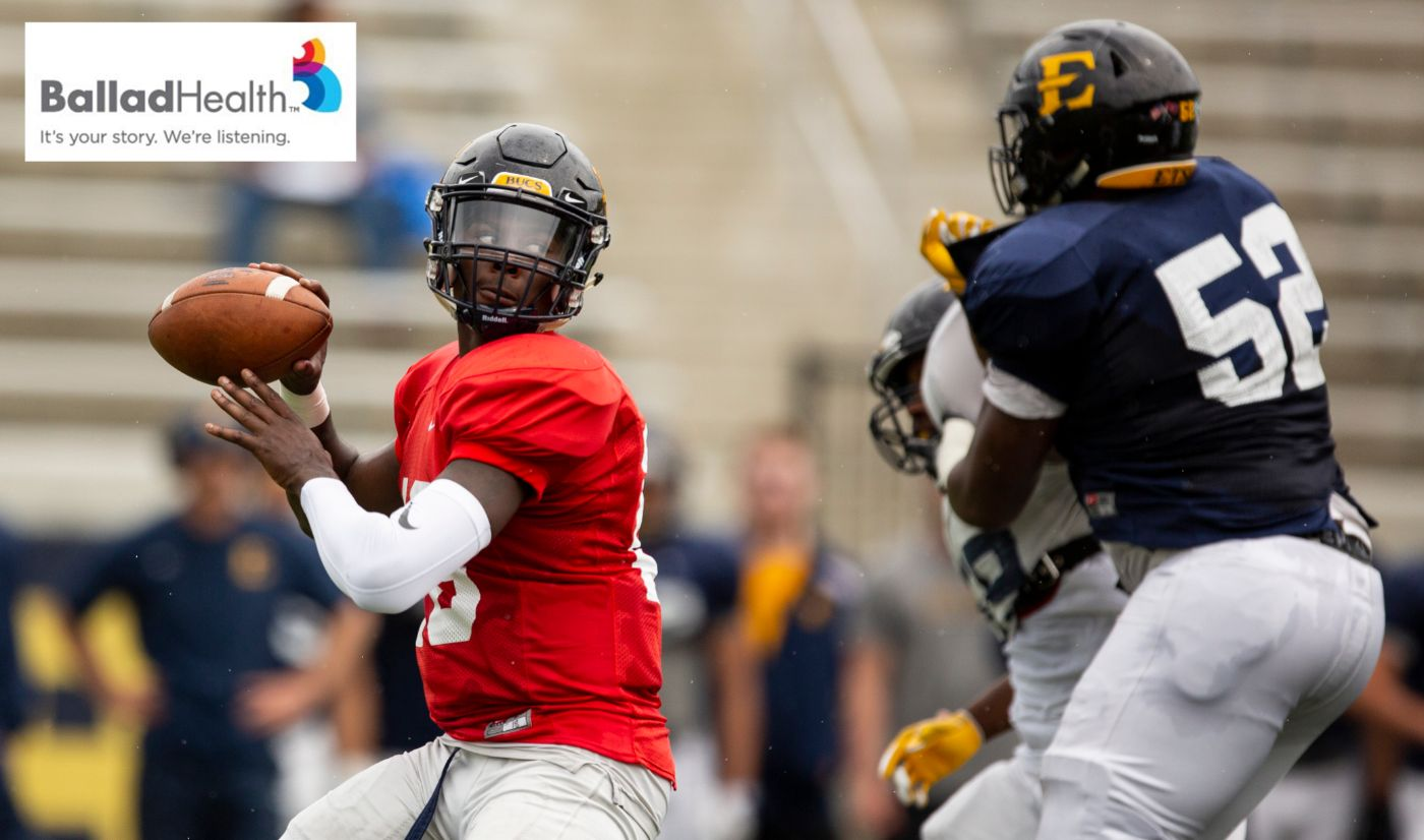 Bucs Cap Spring with Ballad Health Blue-Gold Spring Game