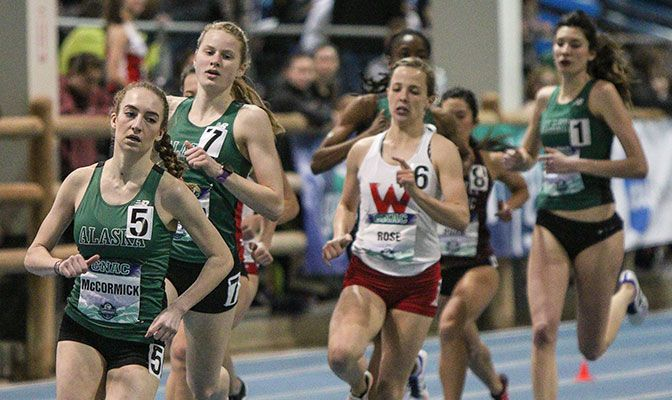 The women's 800-meter field will feature four Alaska Anchorage runners including (from left) Danielle McCormick, Ruth Cvancara and Tamara Perez. Photo by Loren Orr.