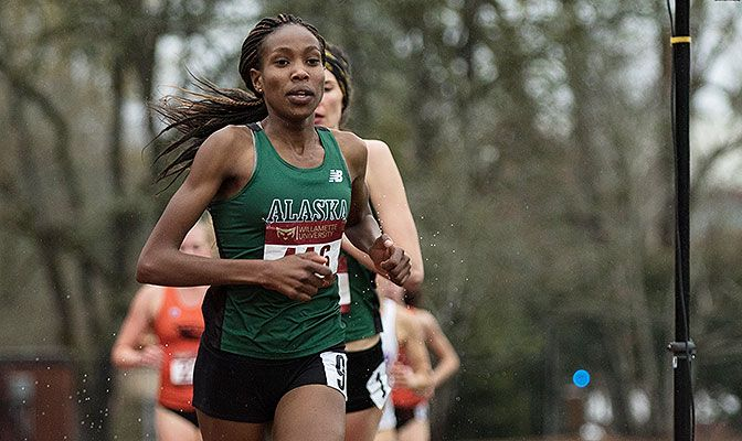 Caroline Kurgat's time of 32:33.24 was a GNAC and UAA record by 41 seconds and is the second-fastest time in Division II history.