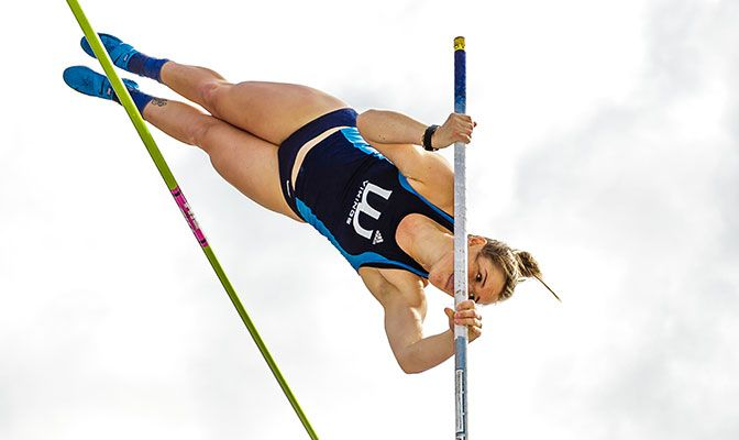 Western Washington's Anna Paradee won the pole vault at the Vikngs' WWU Quad Meet and improved to No. 4 in the nation with a mark of 13 feet, 0.25 inches.