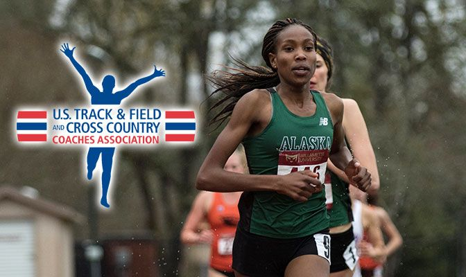 Kurgat was honored by the USTFCCCA after she dropped her GNAC record and No. 3 Division II all-time mark in the 5,000 meters to 15:41.21.