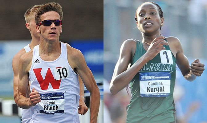Ribich (left) defended his national championship in the 1,500 meters while Kurgat claimed titles at both 5,000 and 10,000 meters. Photos by Joe Reinsch.