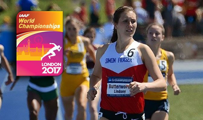 A 2015 graduate of Simon Fraser, Lindsey Butterworth won the NCAA Division II national titles in the 800 meters, both indoors and outdoors, in 2015. Photo courtesy of USTFCCCA.