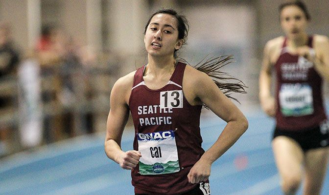 Sophomore Scout Cai opened her indoor season with the second-best point total in Division II in the pentathlon this season. Photo by Loren Orr.