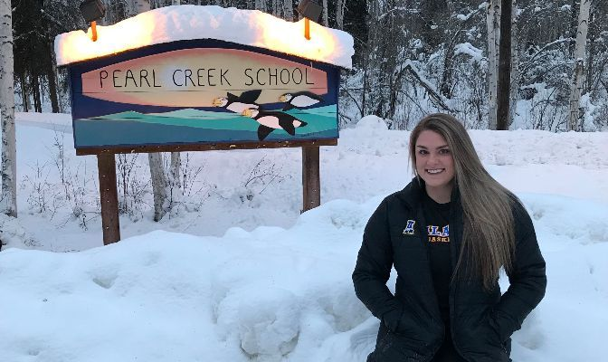 Markie Miller started her student teaching at Fairbanks' Pearl Creek Elementary this fall after the COVID-19 pandemic caused her volleyball and basketball seasons to be postponed.