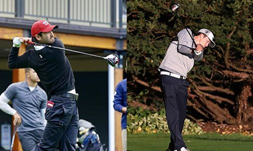 Simon Fraser's Scott Kerr (left) won his second career individual title while Concordia's Viktor Olund (right) won his first.